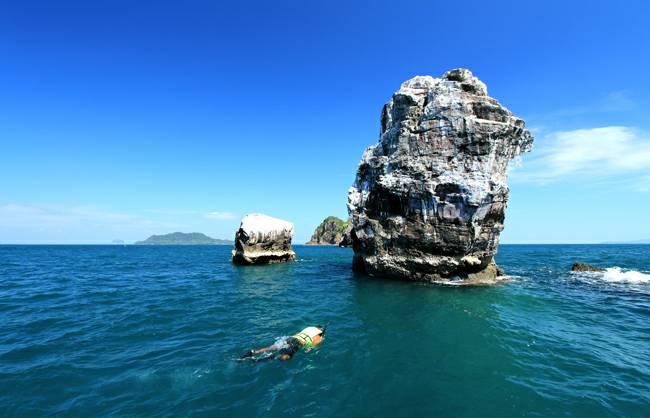 เกาะบุโหลน สถานที่ท่องเที่ยวทางทะเล