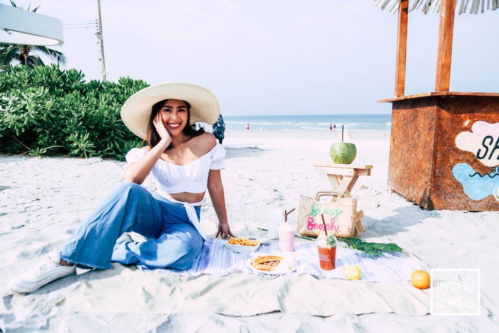 Skoop Beach Café Hua Hin มีมุมให้ถ่ายรูปหลากหลายมุม