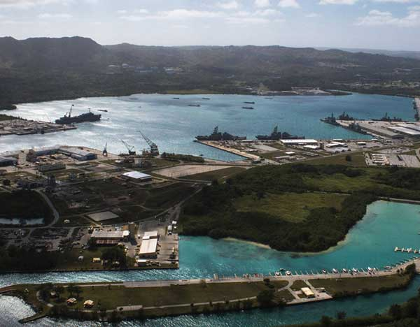 เกาะกวมนั้นเป็นเกาะแห่งหนึ่งที่ตั้งอยู่ในมหาสมุทรแปซิฟิก