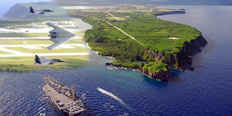 เกาะกวม ซึ่งเป็นดินแดนของสหรัฐอเมริกา