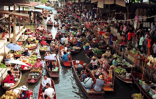 ตลาดน้ำดำเนินสะดวก ท่องเที่ยวชุมชน