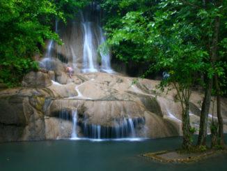 น้ำตกไทรโยคน้อย เที่ยวชมน้ำตกจังหวัดกาญจนบุรี