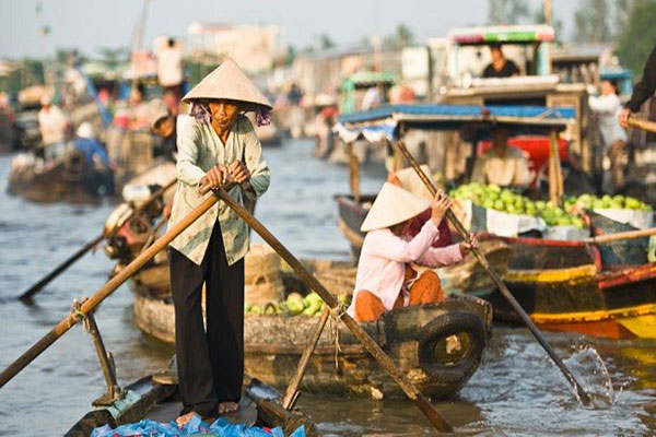 Cai Rang Floating Market ตลาดน้ำไคราง