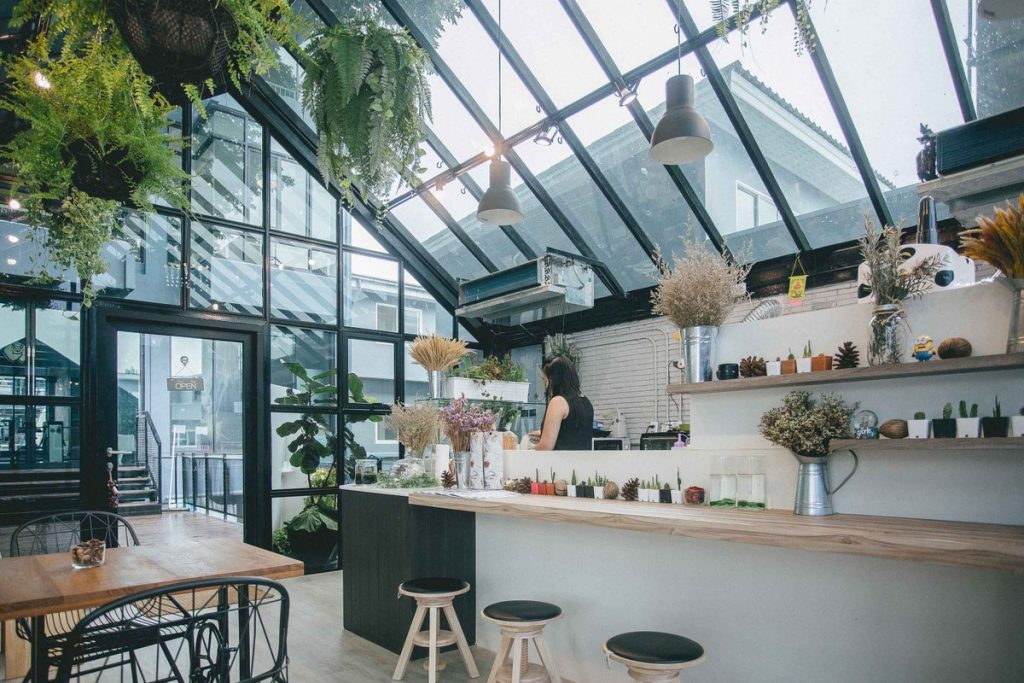 คาเฟ่สไตล์ Glass Cafe